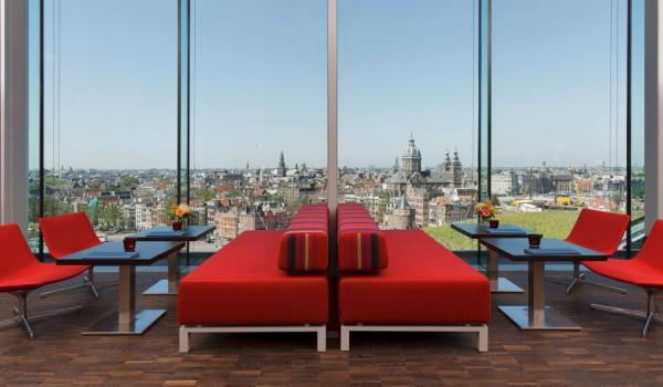 Vele gehandicapten vakanties binnen en buiten de EU | 600×350-Amsterdam-Double-Tree-Skylounge_-hotel.jpg | Vele gehandicapten vakanties binnen en buiten de EU